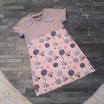 Kleid kurzarm rosa blumen